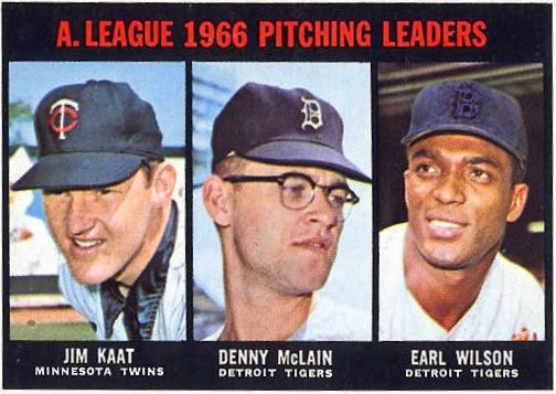 1966 A.L. Pitching Leaders Card