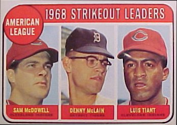 Denny McLain 1969 A.L. Strikeout Leaders