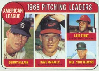 Denny McLain 1969 A.L. Pitching Leaders