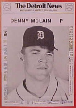 Denny McLain Detroit News Card